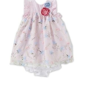 NWT Pippa and Julie Stripe/Floral Dress 0-3 months